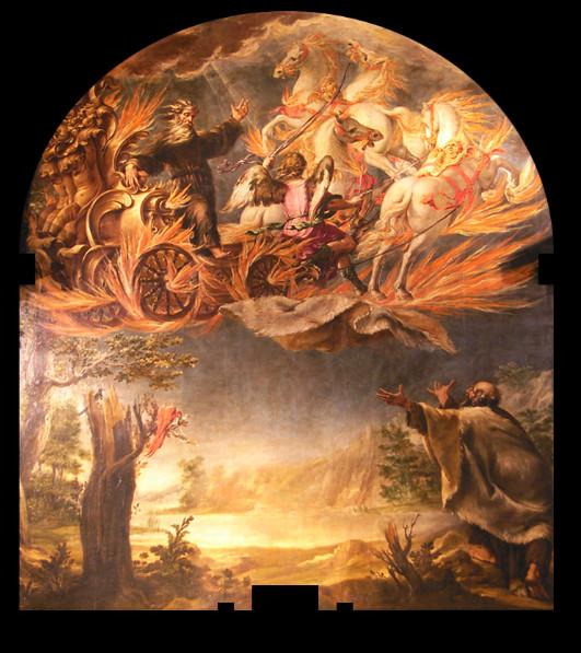 Elías arrebatado por el carro de fuego. Juan de Valdés Leal (1655-56). Barroco
