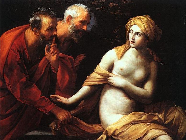 Susana y los Viejos. Guido Reni. 1615. Neoclásico