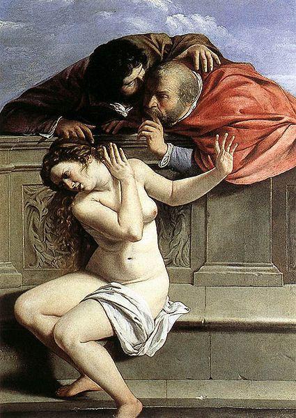 Susana y los viejos, Artemisia Gentileschi 1610, Barroco
